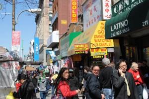 Utrinek iz kitajske četrti (Chinatown).