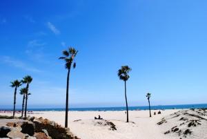 Na eni najlepših kalifornijskih plaž.