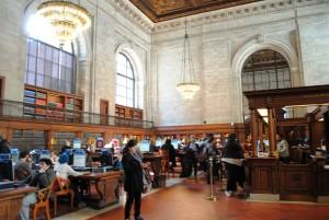 V newyorški knjižnici – drugi največji knjižnici v ZDA (za kongresno) in tretji na svetu.